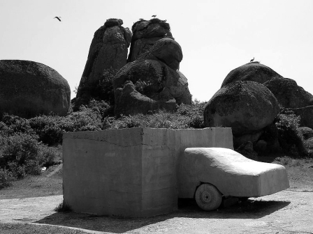 Wolf Vostell, VOAEX, 1976, MVM, Malpartida de Cáceres, España