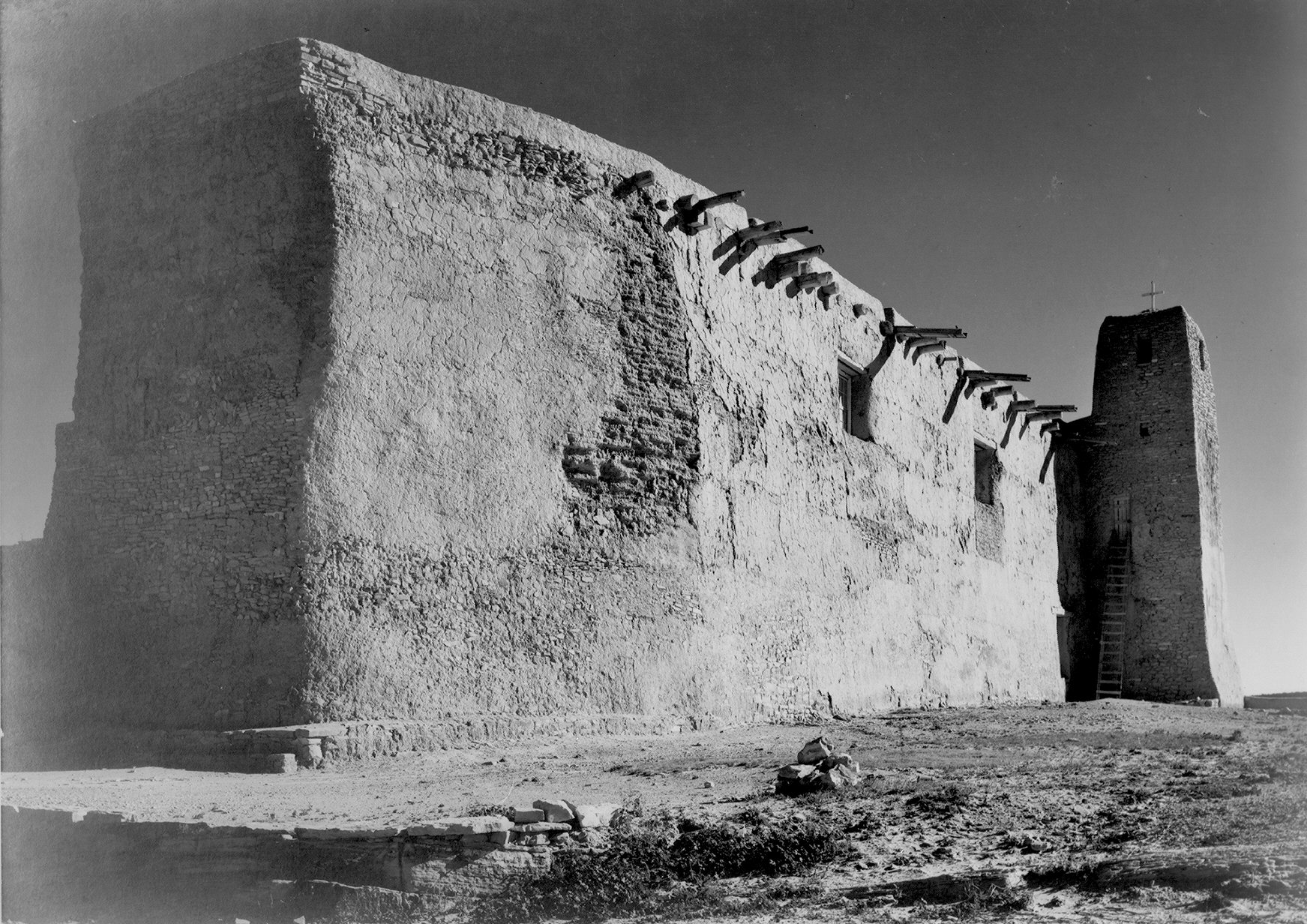 """Ansel Adams, """"Church, Acoma Pueblo""""."""