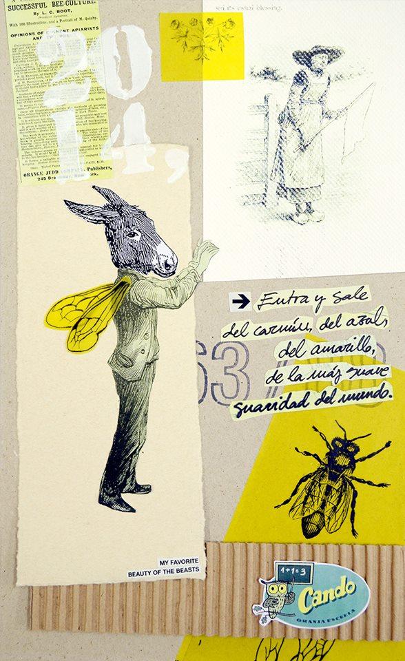 """Cartel: """"Sesión de Herbarium en la Granja Escuela Cando, Villafranca del Bierzo, 12 Abril de 2014"""""""