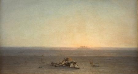 Gustave Guillaumet (1840-1887) El Sahara, también llamado El desierto 1867 Óleo sobre lienzo Alt. 110; Anch. 200 cm. © RMN-Grand Palais (Musée d'Orsay) / Hervé Lewandowski