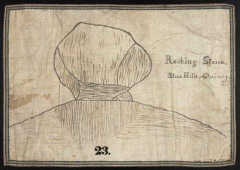 #23 Rocking Stone, Blue Hills, Quincy, Mass.