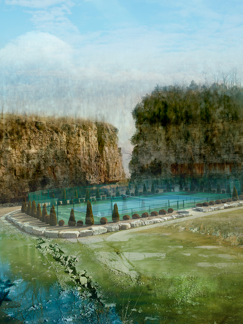 Elena Dorfman-tennis court and landscape